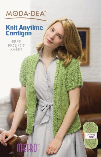 Knit Anytime Cardigan - Coats & Clark