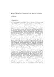Regulative Politik und die Transformation der klassischen Verwaltung