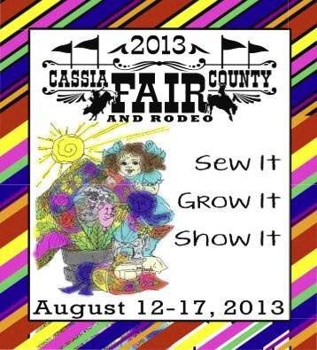 Cassia County Fairbook - University of Idaho Extension (Ver página)