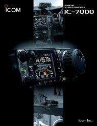 hf/vhf/uhf all mode transceiver hf/vhf/uhf all mode ... - Point electronics