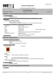 eg-sicherheitsdatenblatt ec-material safety data sheet - IWETEC
