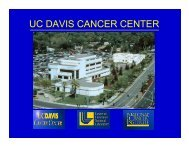 UC DAVIS CANCER CENTER