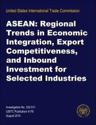 ASEAN: Regional Trends in Economic Integration, Export ... - USITC