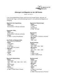 Zeitungen und Magazine an der UB Passau - Universitätsbibliothek ...