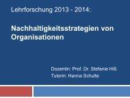 Nachhaltigkeitsstrategien von Organisationen