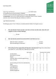 Fragebogen – Entwurf für Copytest in 3 Regionen - SOKO Institut