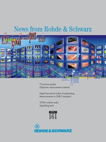 R&S News 161 - Rohde & Schwarz