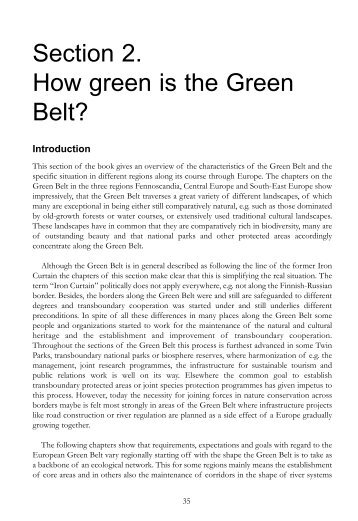 """""""How green is the Green Belt?"""" in Section - Baltic Green Belt"""