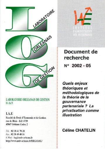 La privatisation comme illustration - Université d'Orléans