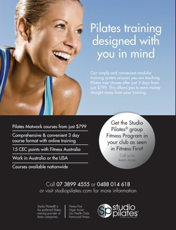 Pilates training designed with you in mind - Studio Pilates
