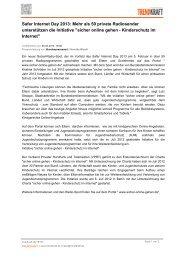 Safer Internet Day 2013: Mehr als 50 private ... - Trendkraft