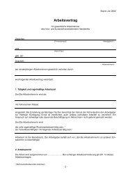 Arbeitsvertrag - Tischler.de