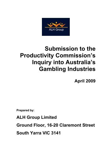 Productivity commission australia gambling industries casino sofortbonus ohne einzahlung
