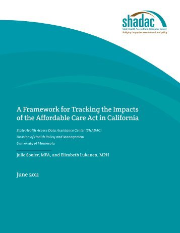 A Framework for Tracking the Impacts of the ACA in California