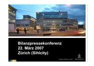 Bilanzpressekonferenz 22. März 2007 Zürich ... - Swiss Prime Site