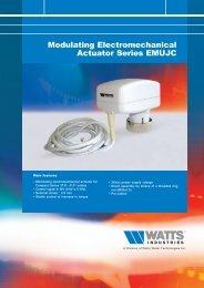 Modulating Electromechanical Actuator Series ... - Watts Industries