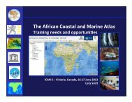The African Coastal and Marine Atlas
