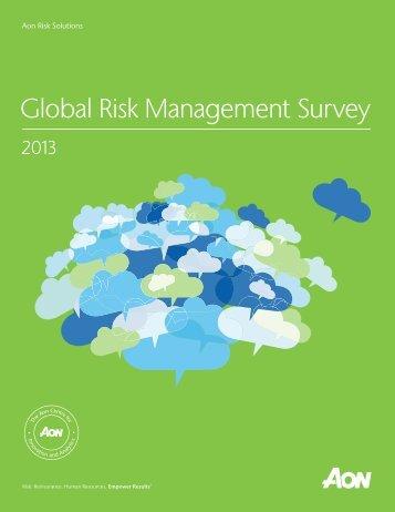 Global Risk Management Survey - Aon Australia