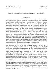Prof. Dr. CW Hergenröder WS 2013 / 14 Hausarbeit für Anfänger im ...