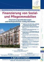 Finanzierung von Sozial- und Pflegeimmobilien - Finanz Colloquium ...
