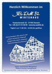 Speisekarte komplett - Ka-wall.32 Wirtshaus