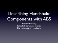 using new Teak components as an example - Computing Science