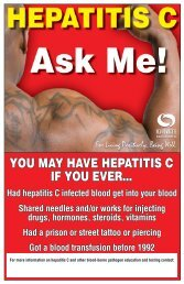 YOU MAY HAVE HEPATITIS C IF YOU EVER... - HCV Advocate