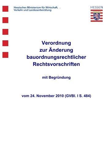 Verordnung zur Änderung bauordnungsrechtlicher ...
