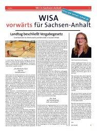 Wir in Sachsen-Anhalt WISA vorwärts - SPD-Landesverband ...