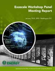 Exascale Workshop Panel Meeting Report - Office of Science - U.S. ...