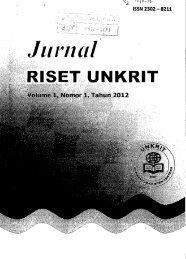 Jurnal Riset Unkrit - PDII – LIPI