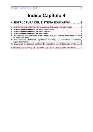 4. Estructura del Sistema Educativo - OEI