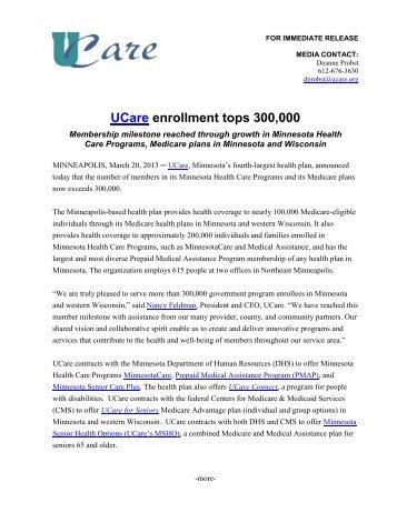 UCare enrollment tops 300,000