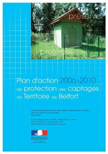 Plan d'actions de la protection des captages - ARS Franche-Comté