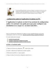 configuration audio de l'application Livephone sur PC - Assistance ...