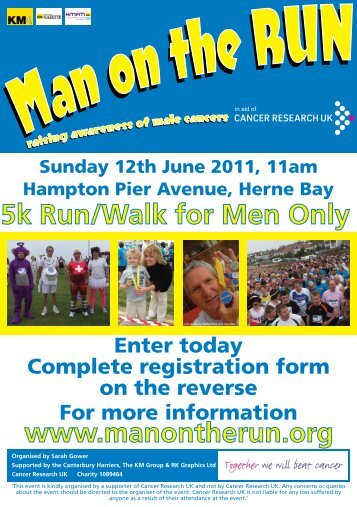 Man on the Run poster and entry form - Spokes