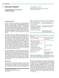 Pulmonale Vaskulitis - Lungenbeteiligung bei systemischen ...