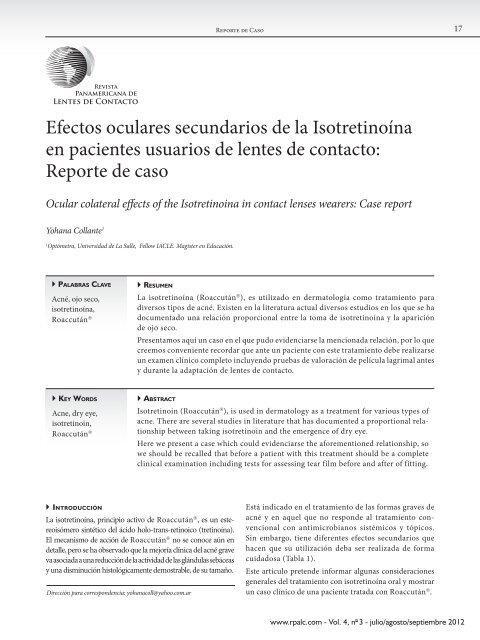 Efectos adversos de la isotretinoina pdf