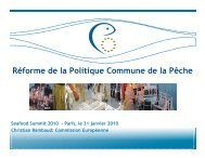 Réforme de la Politique Commune de la Pêche - Seafood Choices ...
