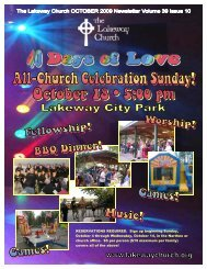 Lakeway Church Newsletter OCTOBER 09 email.pub