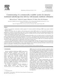 Commissioning of a commercially available system for intensity ...