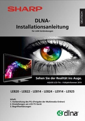 DLNA Guide - Sharp