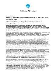 Presseinfo April 13: Jahreszahlen 2012 - Stiftung Mercator