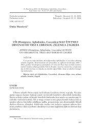 U[I (Hemiptera; Aphidoidea, Coccoidea) KAO [TETNICI ...
