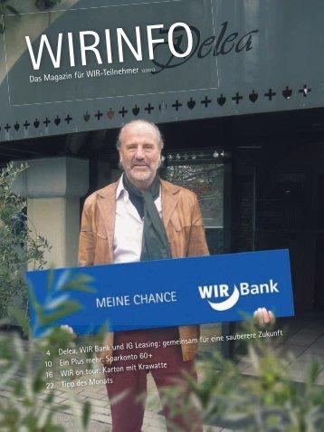 Das Magazin für WIR-Teilnehmer - WIR Bank