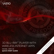 VIZIO 3D Blu-ray Player with Wireless Internet Apps
