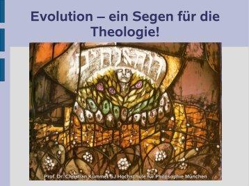 Evolution – ein Segen für die Theologie! - Oekumenischer ...