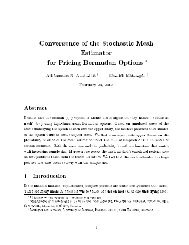 Convergence of the Stochastic Mesh Estimator for Pricing Bermudan ...