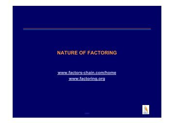 NATURE OF FACTORING