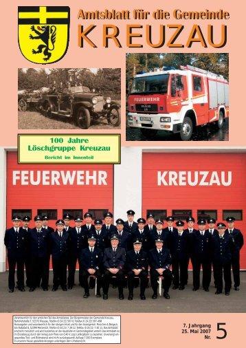 Amtsblatt Nr. 05/2007 vom 25.05.2007 - Gemeinde Kreuzau
